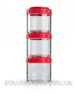 Контейнер спортивний BlenderBottle GoStak 3 Pak Red Original SKL24-277239