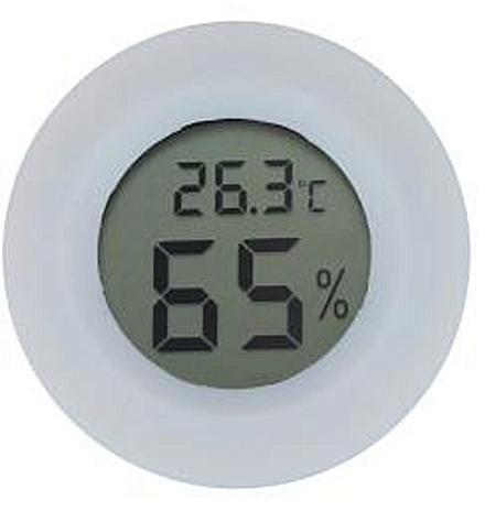 Термометр с гигрометром - ЖК дисплей - белый