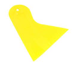 Лопатка пластиковая ZIRY треугольная 86x96 yellow