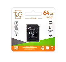 Карта памяти MicroSDXC 64GB UHS-I U3  10 T&G + SD-adapter