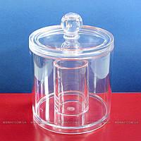 """YRE Cosmetic Organizer - Подставка SF-296 для ватных палочек и дисков """"Двойной цилиндр с крышкой"""""""
