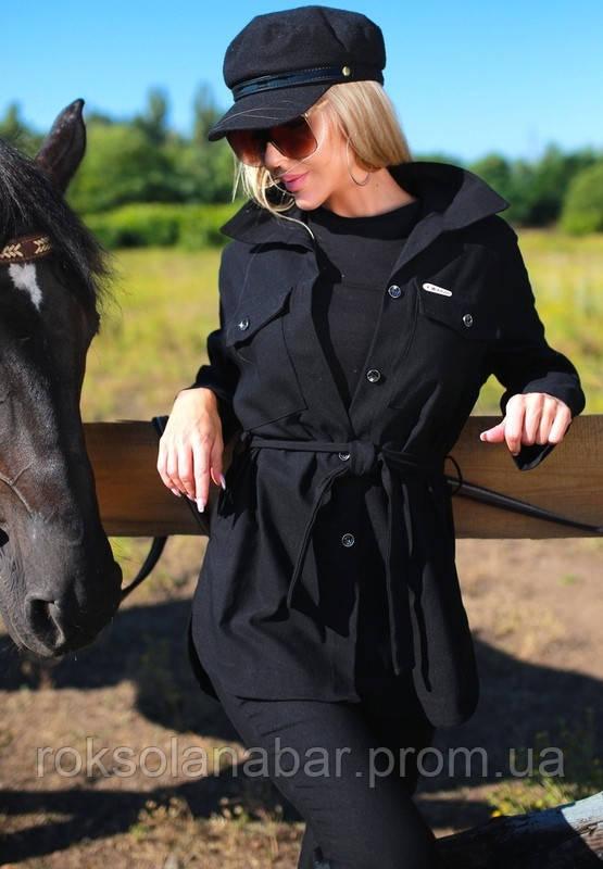 Куртка жіноча молодіжна в чорному кольорі з джинса бенгалін