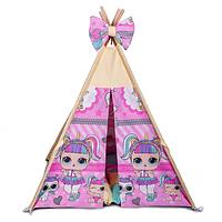 Детская палатка Куклы ИНДИВИДУАЛЬНЫЙ набор. Игровой шалаш, детский вигвам, вигвам для детей