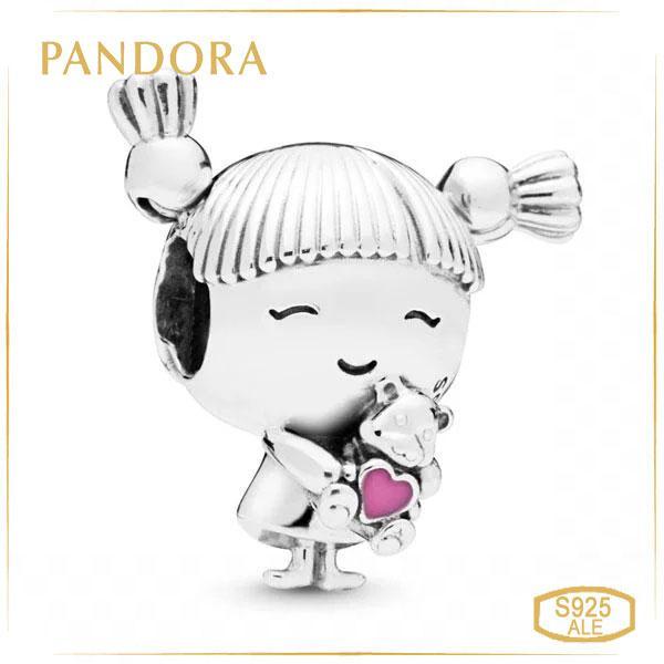 Пандора Шарм Малышка с хвостиками Pandora 798016EN160