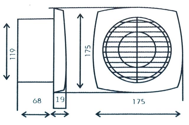 Бытовой вытяжной вентилятор для кузни, ванной