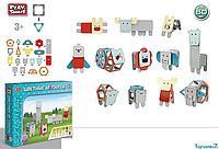 """Конструктор магнитный 2469  """"Play Smart"""", 60 деталей, в коробке"""