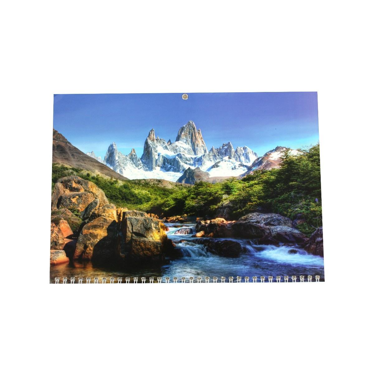 Календар квартальний (3-пружинний) 2021 Природа 09
