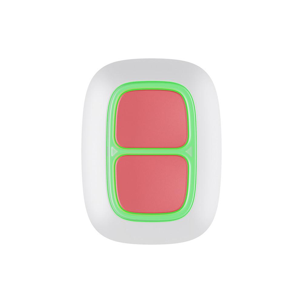 Беспроводная экстренная кнопка Ajax DoubleButton белая