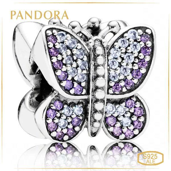 "Пандора Шарм ""Сверкающая бабочка"" Pandora 791257ACZ"