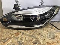 Фара передняя левая Рено Меган 3 / Renault Megane 3 хром 260605817R