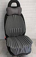 Ортопедические био накидки - чехлы EKKOSEAT на авто кресло. Комплект. Черный, Серый, Бежевый. Универсальные.