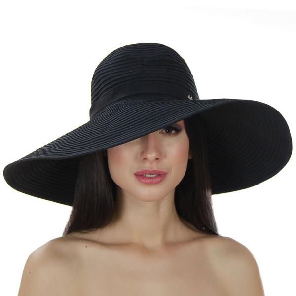 Річна крислатий капелюх 16 см з модельованими полями колір чорний