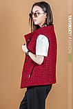 Двухсторонний женский жилет на силиконе 42 -48 цвет красный, фото 3