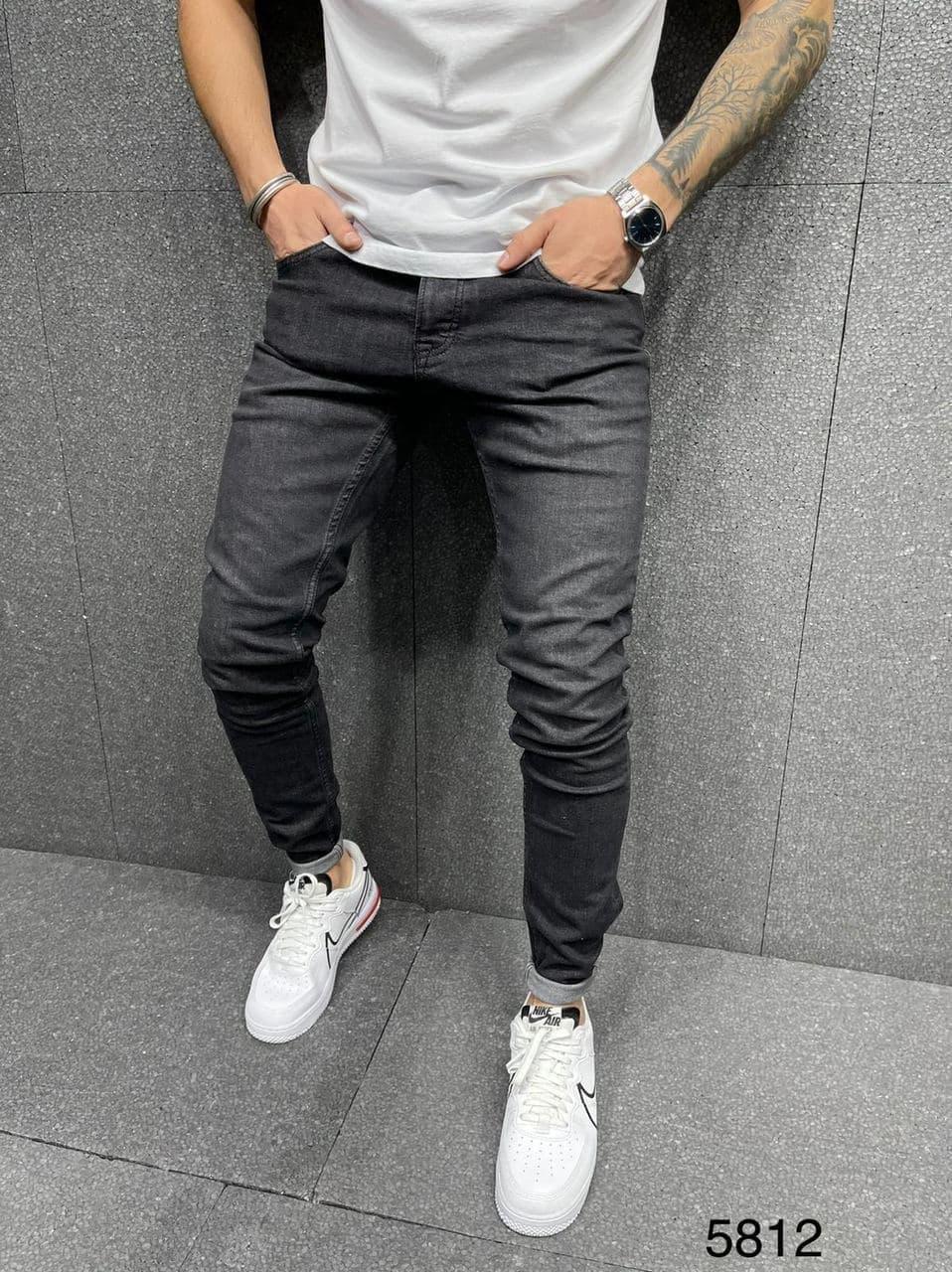 Чоловічі джинси 2Y Premium 5812 antracit