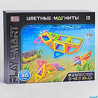 """Конструктор магнитный 2466  """"Play Smart"""", 36 деталей, в коробке"""