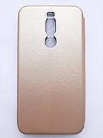 Чехол книжка Original для Meizu X8 золотистый gold