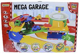 Автомобильный трек Wader Play Tracks City гараж с трассой (53140)