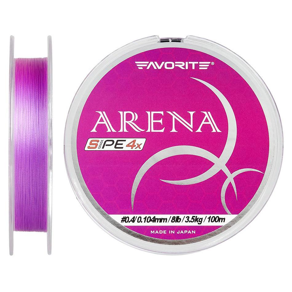 Шнур Favorite Arena PE 100m (purple) #0.4/0.104mm 8lb/3.5kg