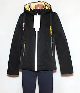 Чорна куртка жіноча осінньо весняна S-XL