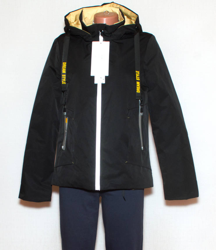 Чорна куртка жіноча осінньо весняна S-XL, фото 2