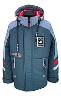 Удобная весенняя куртка на мальчика на рост 128-158, фото 1