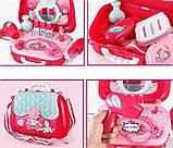 Портативний дитячий рюкзак Hairdresser toy   Набір для маленького перукаря   ІГРОВИЙ НАБІР ДЛЯ ДІВЧИНКИ, фото 3