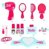 Портативный детский рюкзак Hairdresser toy | Набор для маленького парикмахера | ИГРОВОЙ НАБОР ДЛЯ ДЕВОЧКИ, фото 4