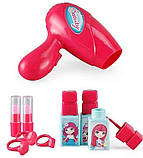 Портативний дитячий рюкзак Hairdresser toy   Набір для маленького перукаря   ІГРОВИЙ НАБІР ДЛЯ ДІВЧИНКИ, фото 5