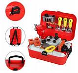 Детский игровой набор инструментов в чемодане | Портативный рюкзак Toy Tool Toy | ИГРОВОЙ НАБОР ДЛЯ МАЛЬЧИКОВ, фото 5