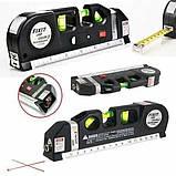 Лазерный уровень нивелир Fixit Laser Level Pro 3 + рулетка + жидкостный  уровень, фото 2