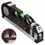 Лазерный уровень нивелир Fixit Laser Level Pro 3 + рулетка + жидкостный  уровень, фото 3