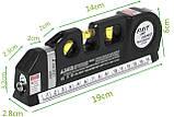 Лазерний рівень нівелір Fixit Laser Level Pro 3 + рулетка + рідинний рівень, фото 8