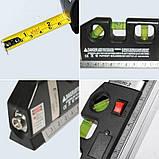Лазерний рівень нівелір Fixit Laser Level Pro 3 + рулетка + рідинний рівень, фото 9