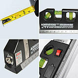 Лазерный уровень нивелир Fixit Laser Level Pro 3 + рулетка + жидкостный  уровень, фото 9