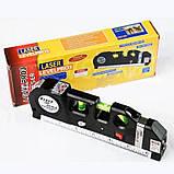 Лазерный уровень нивелир Fixit Laser Level Pro 3 + рулетка + жидкостный  уровень, фото 10