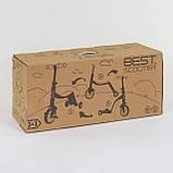 Детский самокат-велобег-велосипед 3 в 1 JT 90601 со световыми и звуковыми эффектами (8 песен), розовый, фото 2