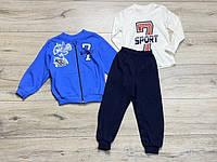 Спортивный костюм тройка для мальчиков рост 98/104 рост .Турция