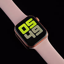 Смарт часы T500+ ( HiWatch 6). Розовый цвет.  Диагональ 1.75, умные часы, фитнес браслет., фото 2