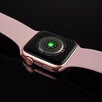 Смарт часы T500+ ( HiWatch 6). Розовый цвет.  Диагональ 1.75, умные часы, фитнес браслет., фото 3