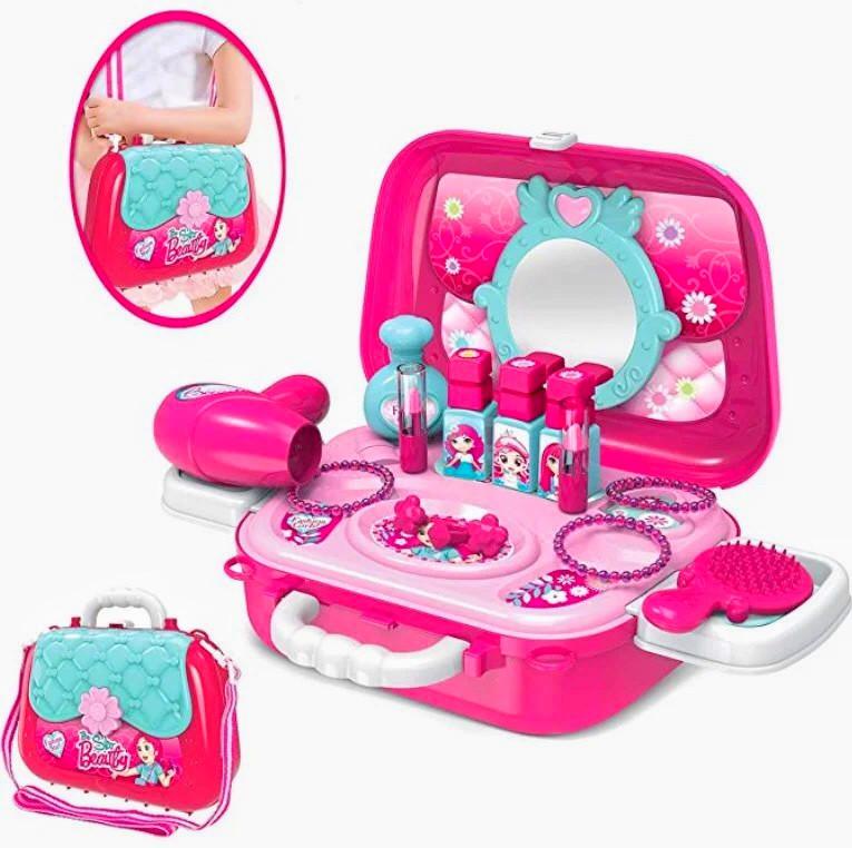 Портативний дитячий рюкзак Hairdresser toy   Набір для маленького перукаря   ІГРОВИЙ НАБІР ДЛЯ ДІВЧИНКИ