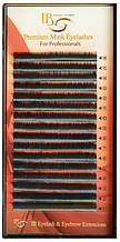 Черные ресницы I-Beauty 0,1 L 8-14 мм