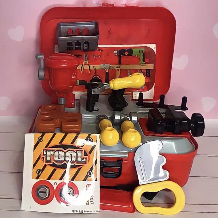 Детский игровой набор инструментов в чемодане | Портативный рюкзак Toy Tool Toy | ИГРОВОЙ НАБОР ДЛЯ МАЛЬЧИКОВ