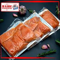 Кусочки лосося слабосолёные на шкуре 500 г