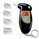 Электронный алкотестер Alcohol Tester | Персональный алкотестер Digital Breath Alcohol Tester с мундштуками, фото 4