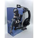 Наушники проводные X2 PRO игровые с микрофоном Чёрные, фото 3