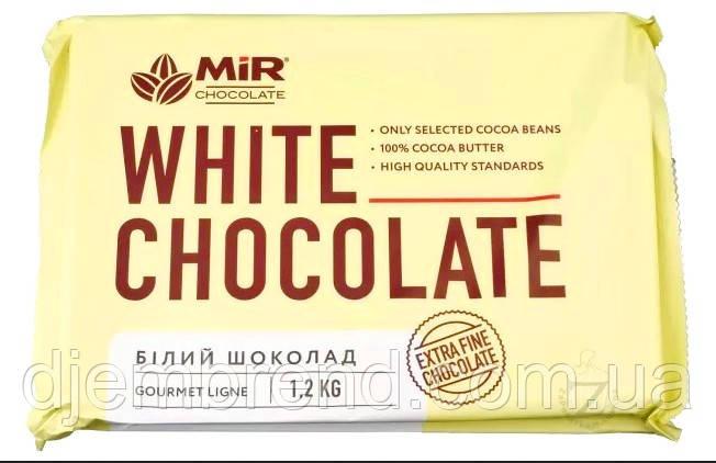 Молочний шоколад Mir Chocolate, 28% какао, плитка 1,2 кг. Є ОПТОВІ ЦІНИ!