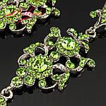 """Сережки вечірні """"Камілла"""" ніжно-зеление, фото 2"""