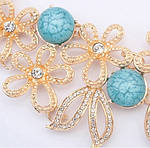 Кольє і сережки з блакитними квітами, фото 4