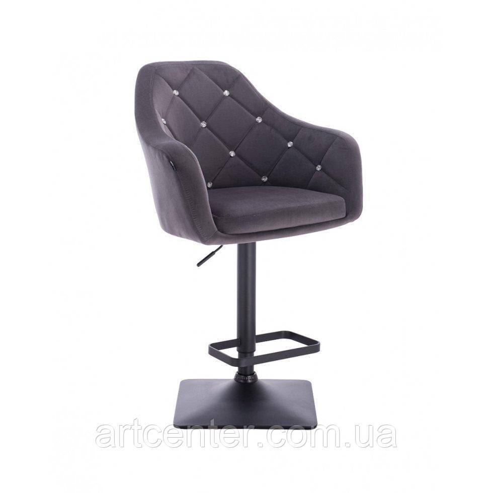 Визажное кресло New York, хромированная круглая основа, велюр
