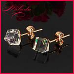 Сережки з кристалами SWAROVSKI, позолота 18-К., фото 2